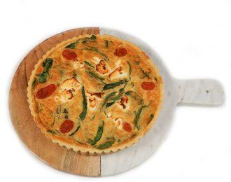 Gluten Free Tomato, Spinach & Goats Cheese Quiche