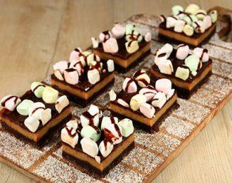 Chocolate Marshmallow Tray Cake