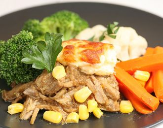 Pork & Corn with Mash Potato