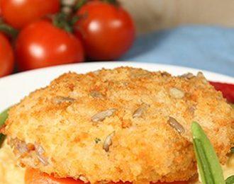 Gluten Free Pumpkin & Chickpea Pattie with Sweetcorn Risotto