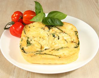 Gluten Free Spinach & Feta Quiche (single serve)