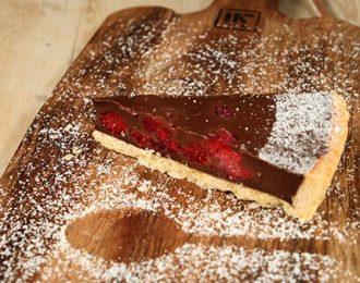 Chocolate & Raspberry Tart Slice