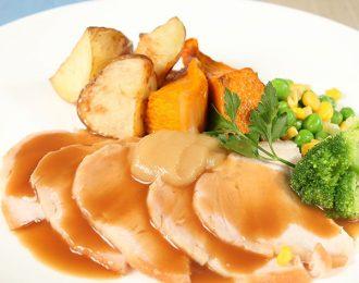 Roast Pork with Vegetables & Gravy