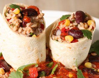 Vegan Mexican Rice Burrito