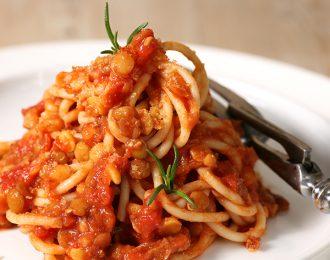 Vegan Three Lentil Spaghetti