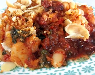 Vegan White Beans in Tomato Sauce with Kale